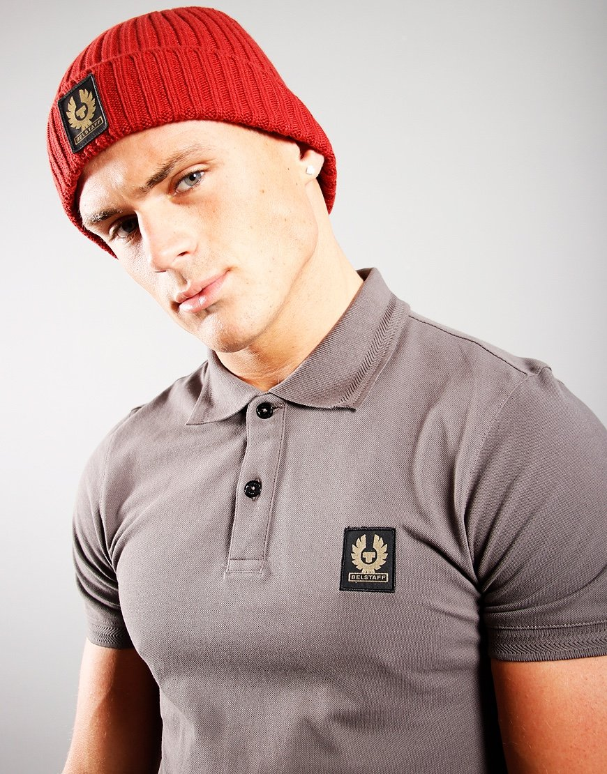 Belstaff Wool Watch Hat Biking Red