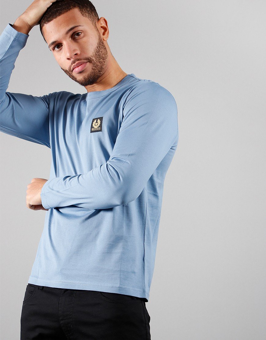 Belstaff Long Sleeve T-Shirt Airforce Blue