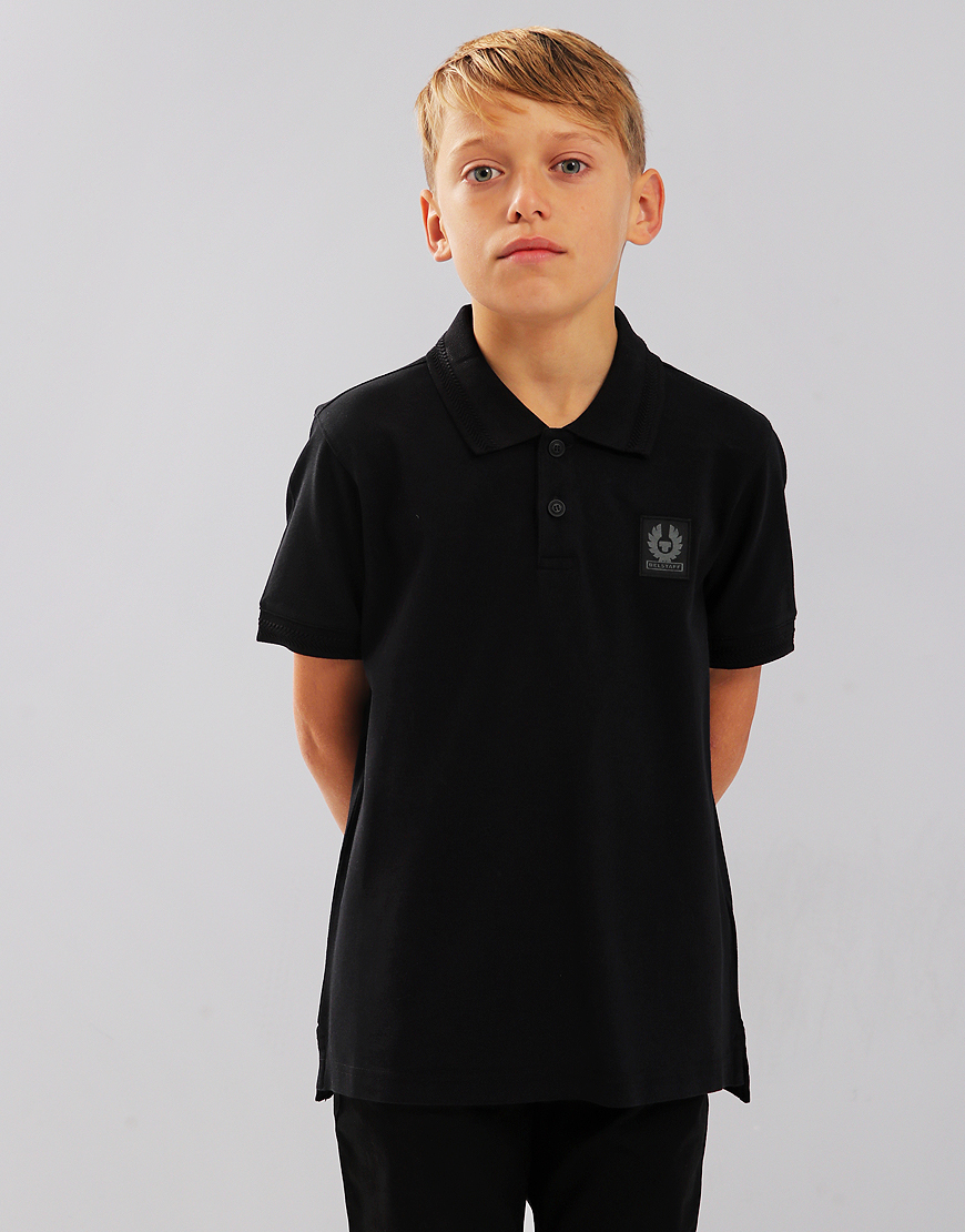 Belstaff Kids Stannett Polo Shirt Black