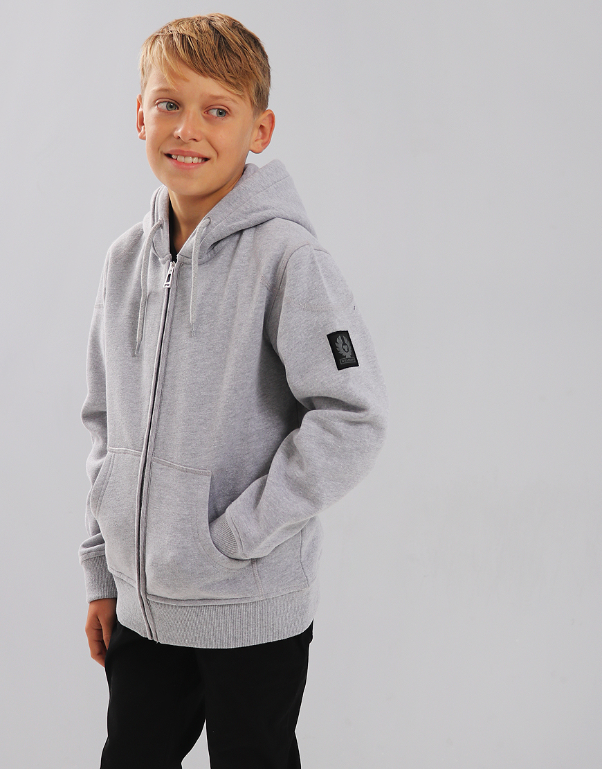 Belstaff Kids Wentworth Hooded Sweat Pale Grey