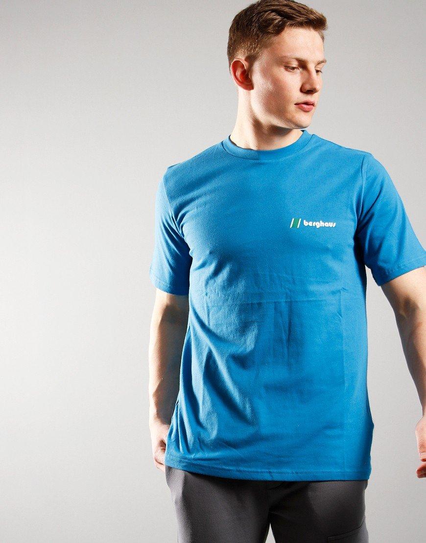 Berghaus Front & Back Logo T-Shirt Blue Water