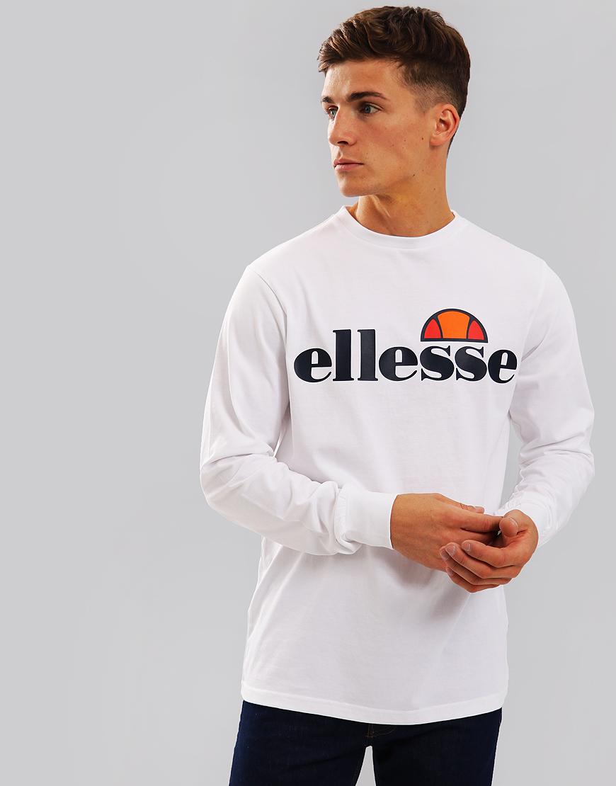 Ellesse Bianchi Long Sleeve T-Shirt White