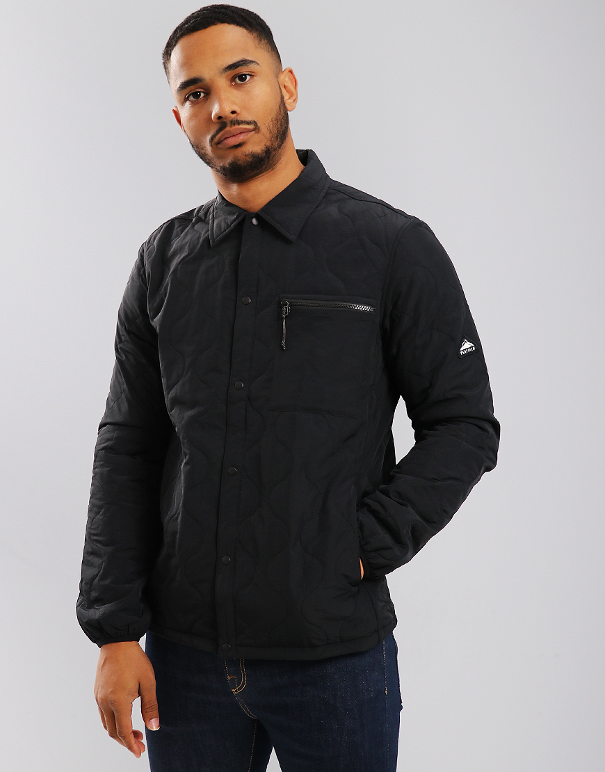Penfield Blackstone Quilted Overshirt Black