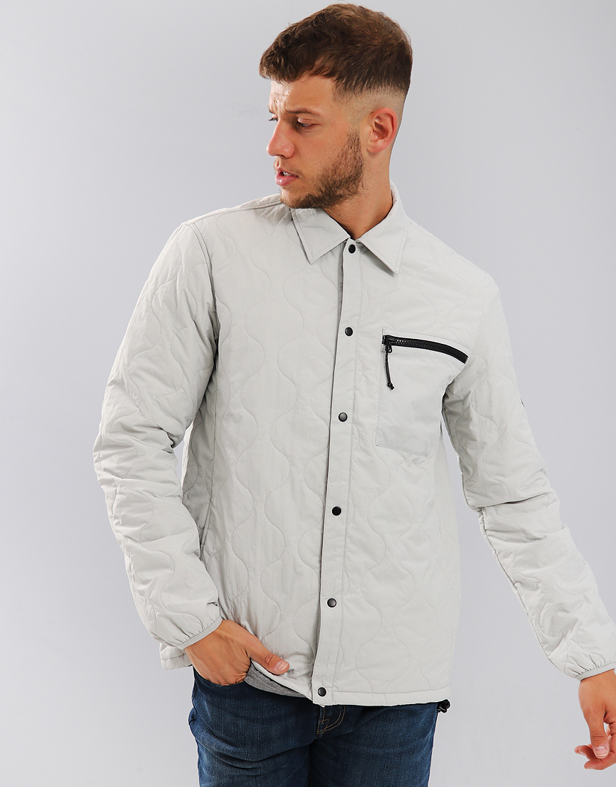 Penfield Blackstone Quilted Overshirt Silver Cloud