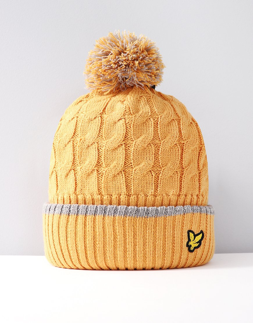 Lyle & Scott Junior Bobble Hat Honey