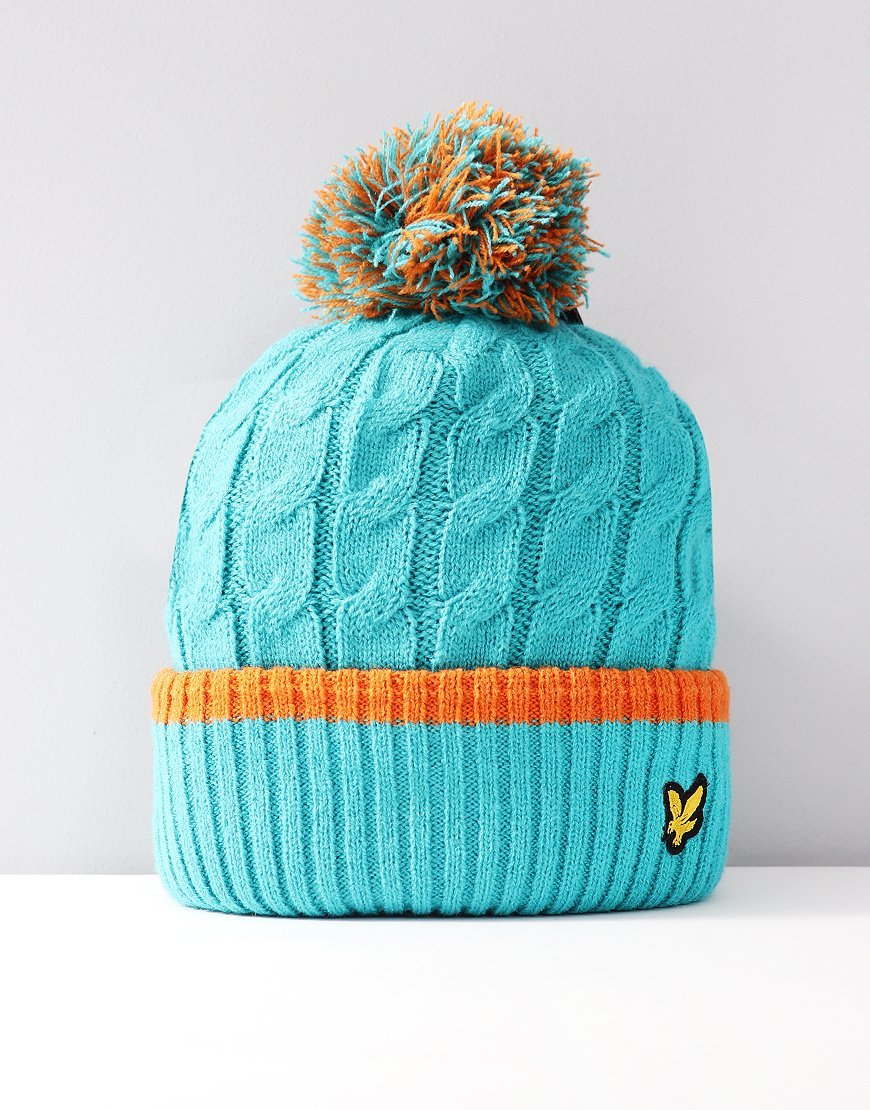 Lyle & Scott Junior Bobble Hat Lake