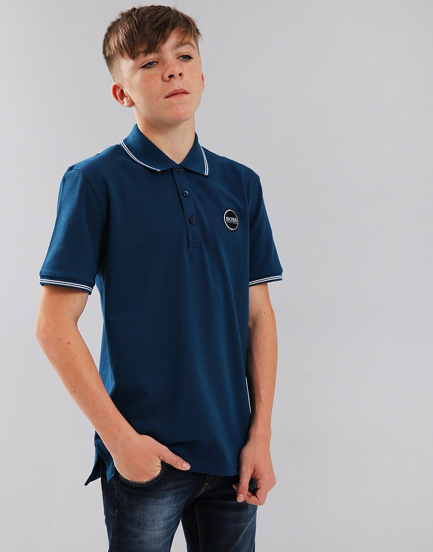 BOSS Kids Polo Shirt Obsidian Blue