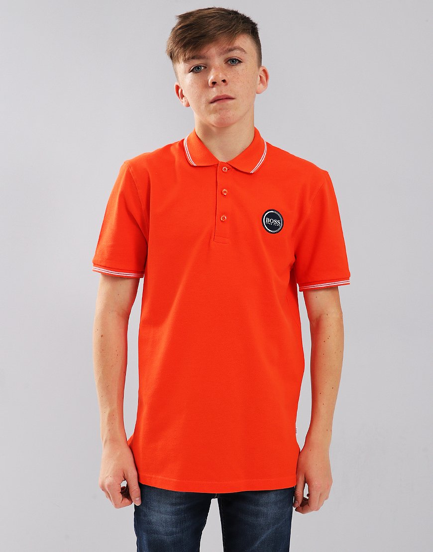 BOSS Kids Polo Shirt Orange