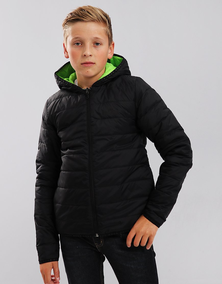 BOSS Kids J26361 Down Puffer Jacket Black