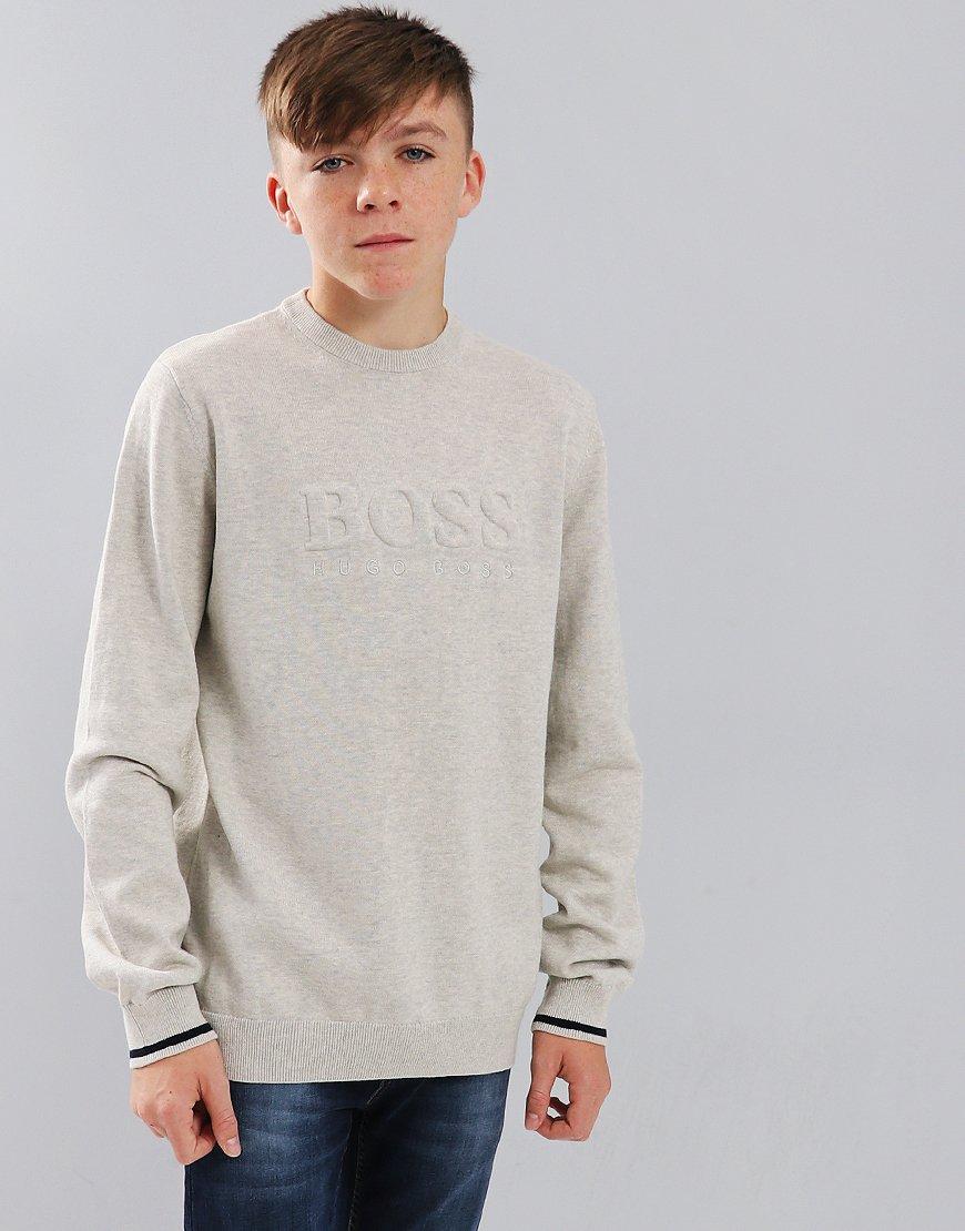 BOSS Kids Knitted Sweater Light Grey