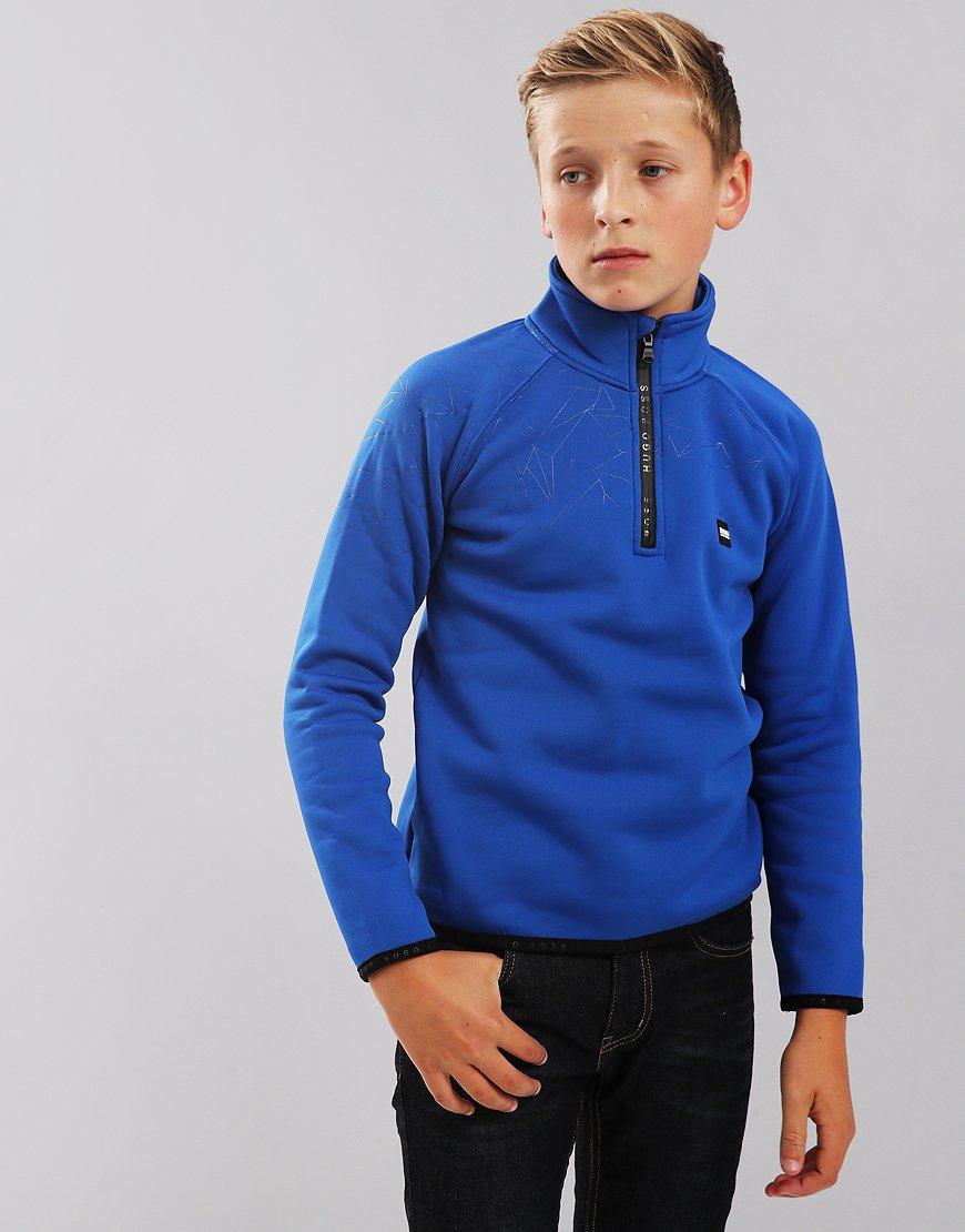 BOSS Kids J25C93 Half-Zip Sweatshirt Electric Blue