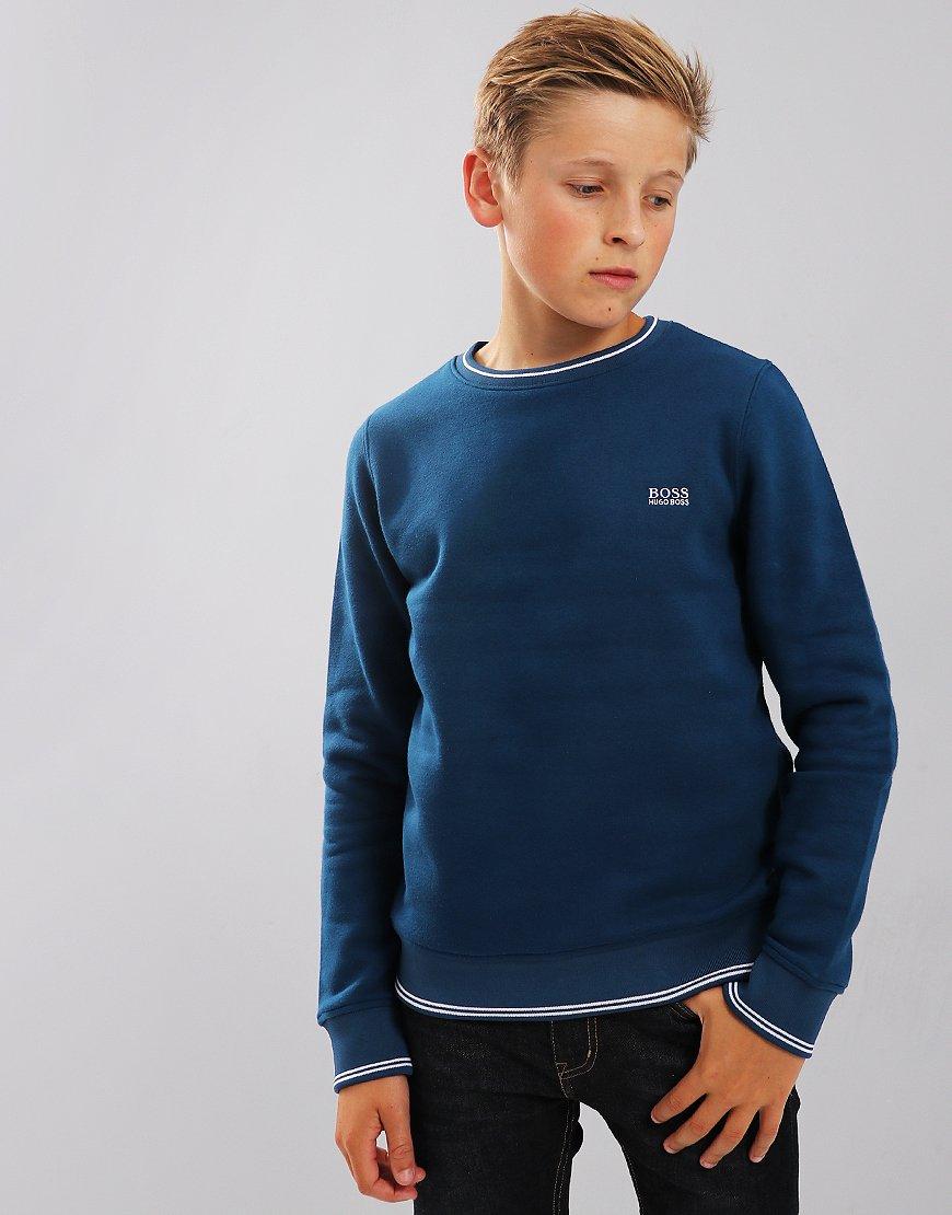 BOSS Kids J25C94 Sweatshirt Dark Obsidian Blue