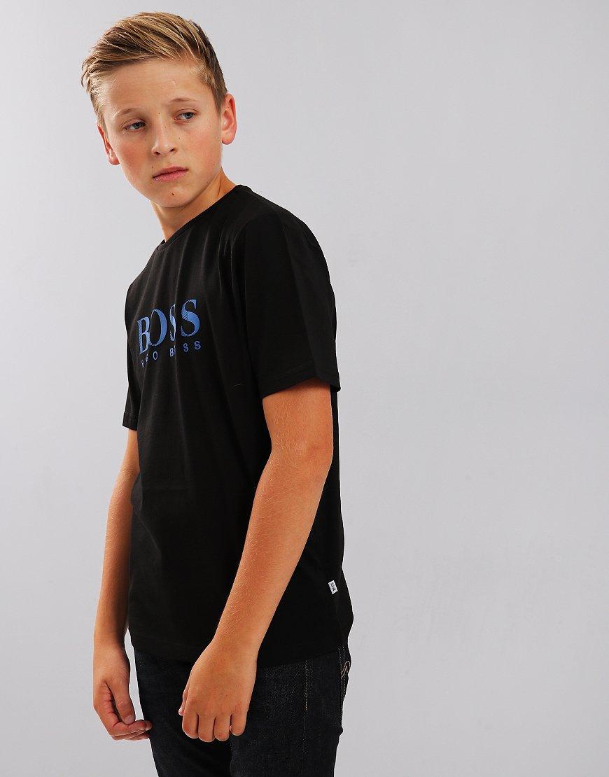 BOSS Kids Print T-Shirt Black