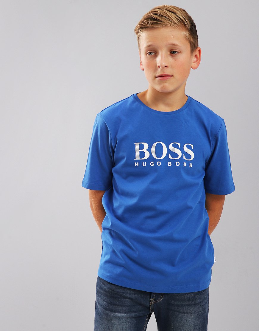 BOSS Kids Print T-Shirt Electric Blue