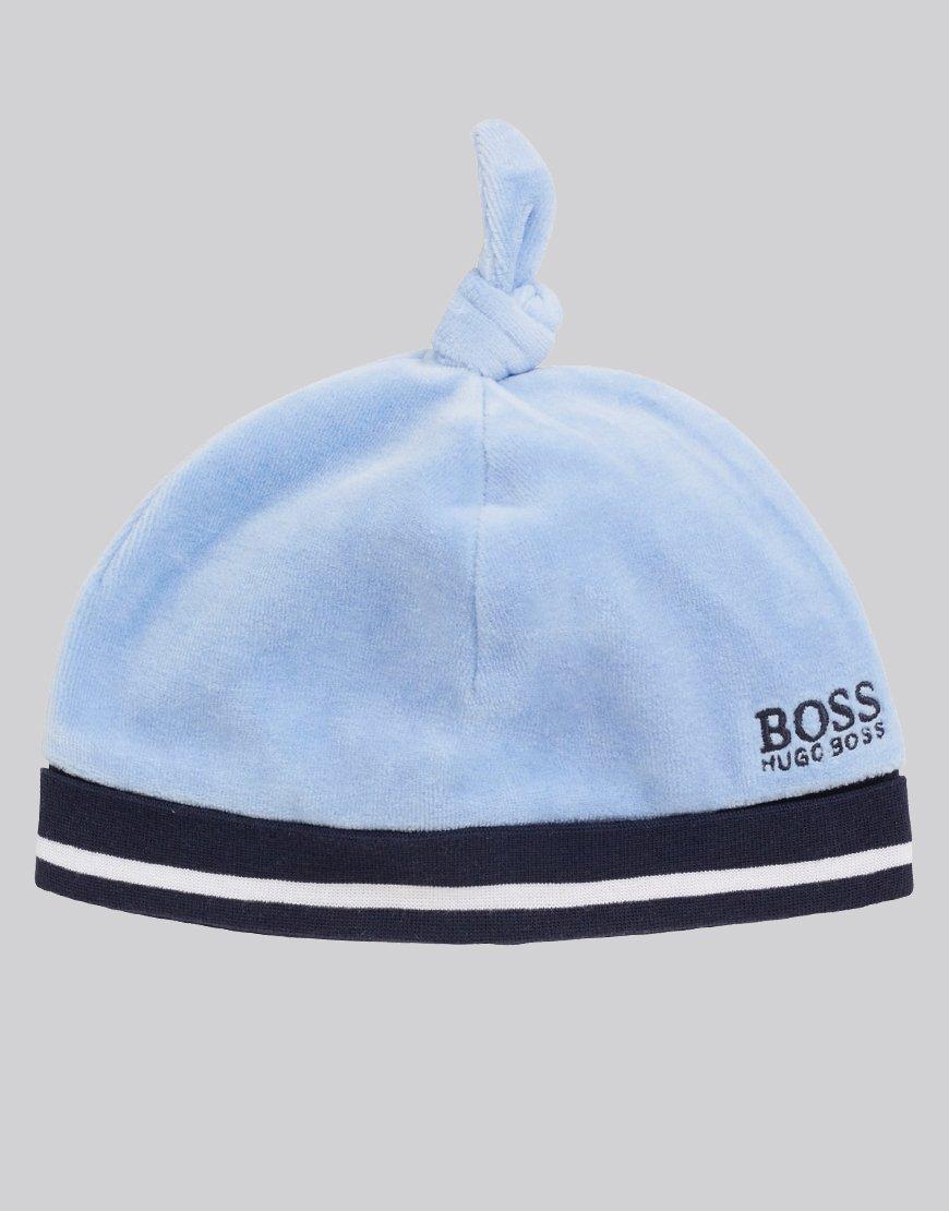 BOSS Kids J91087 Velvet Hat Chambray Blue