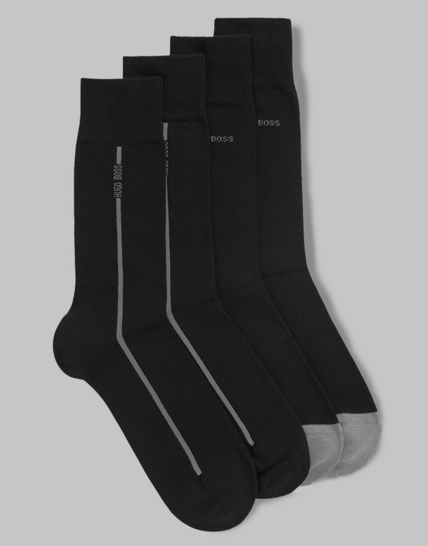 BOSS Two Pack RS Stretch Cotton Socks Black