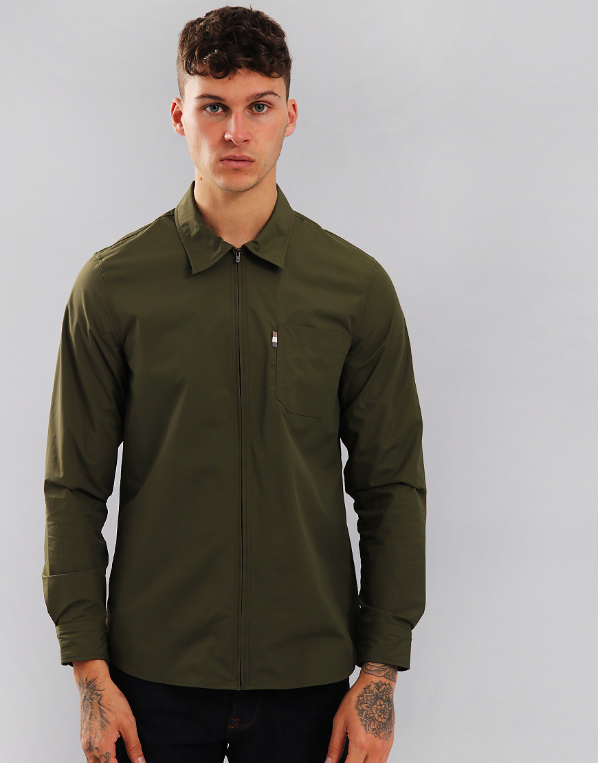 Aquascutum Brodie Nylon Overshirt Military Green