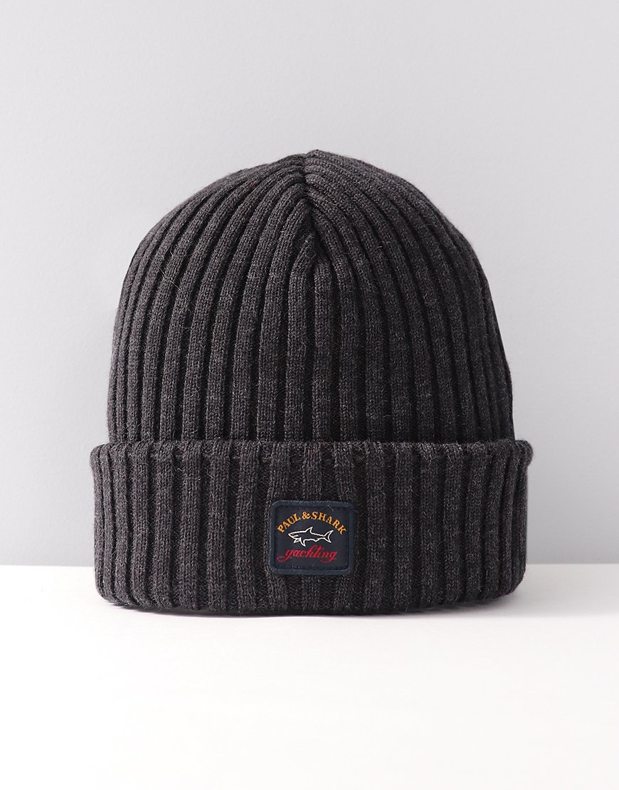 Paul & Shark Knitted Beanie Grey