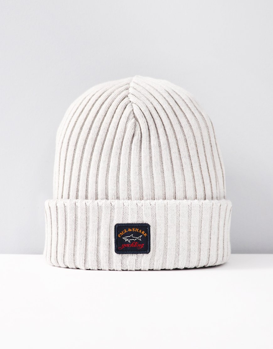 Paul & Shark Knitted Beanie Light Grey