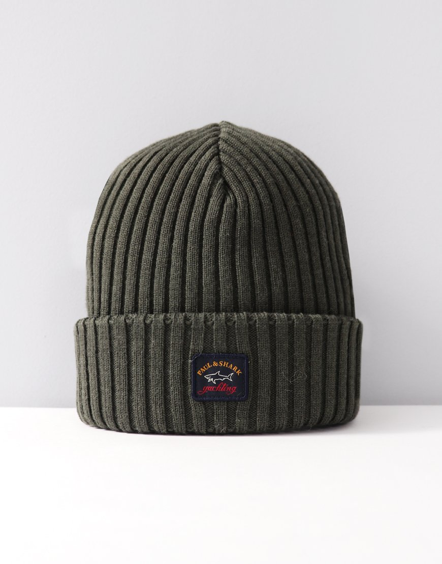 Paul & Shark Knitted Beanie Military Green