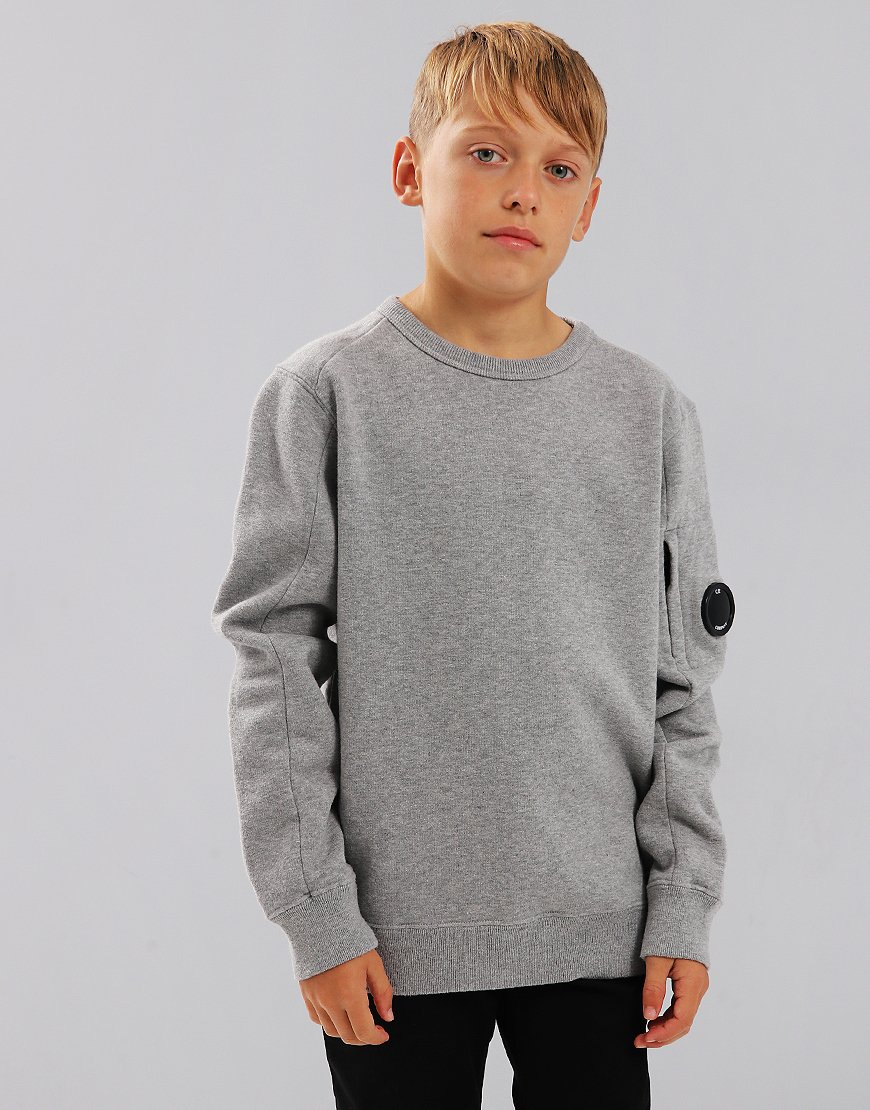 C.P. Company Kids Lens Sweat Grey Melange