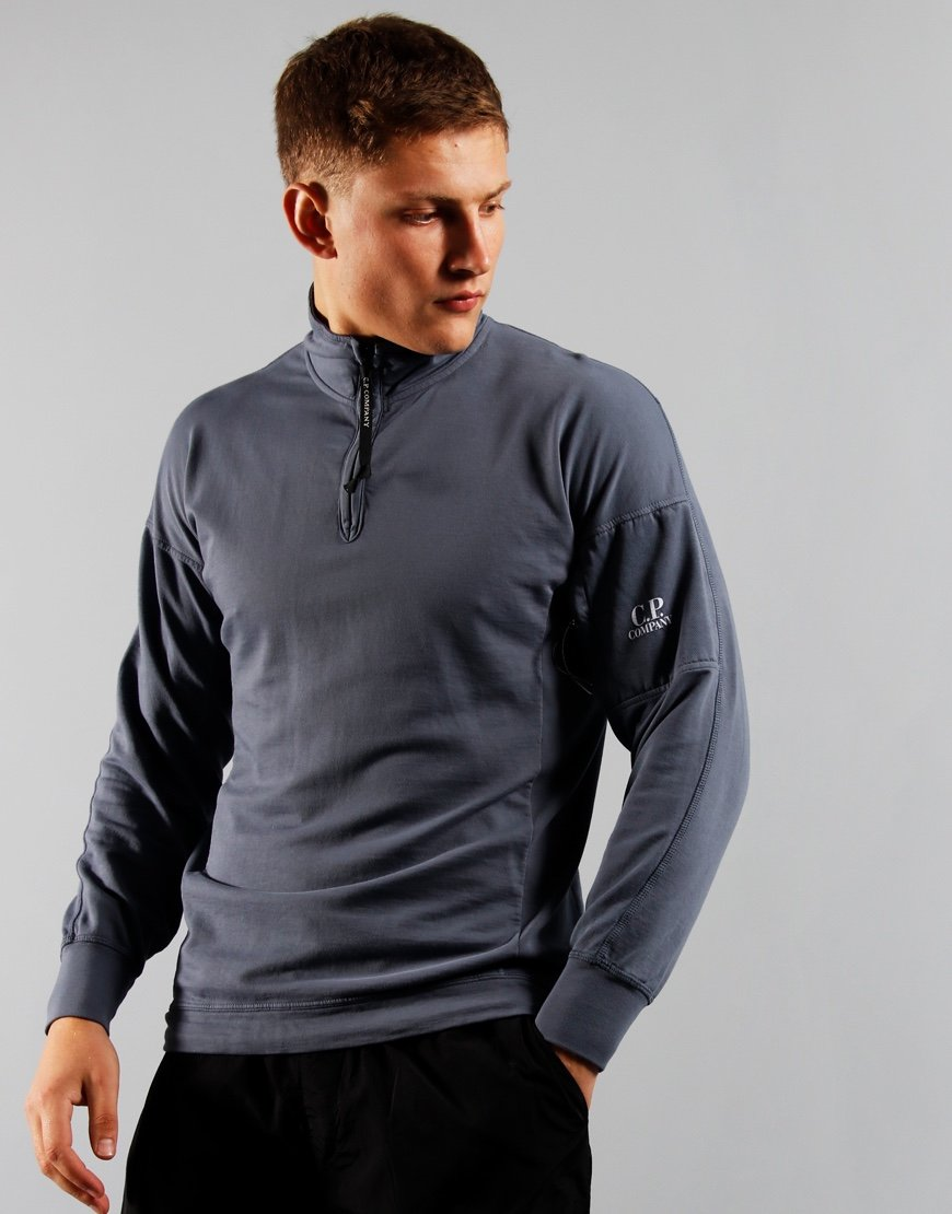 C.P. Company Half Zip Sweat Ombre Blue