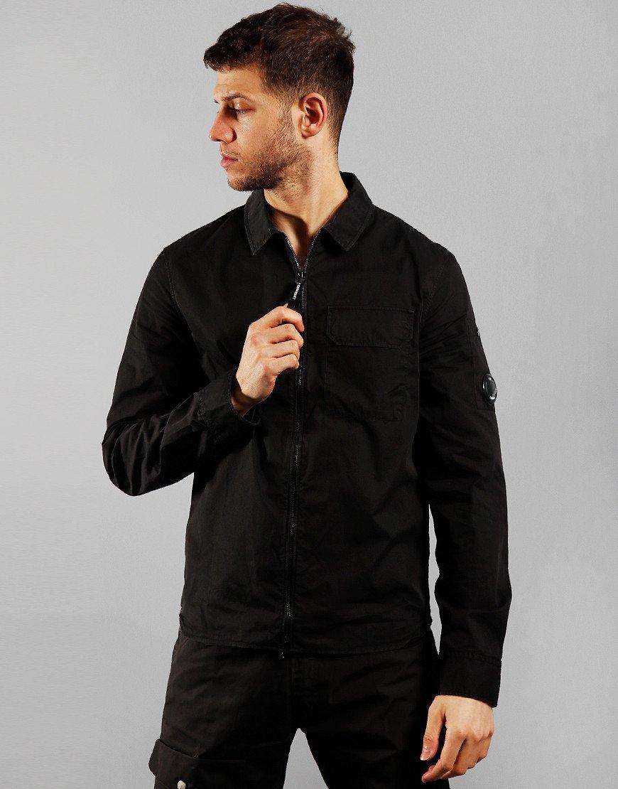 C.P. Company Arm Lens Zip Overshirt Black