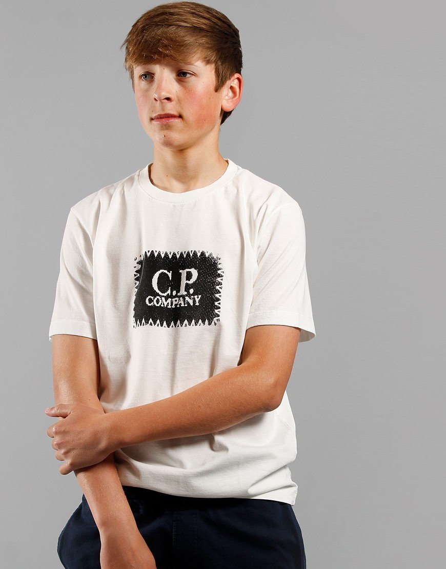 C.P. Company Kids Logo Patch T-Shirt Gauze White