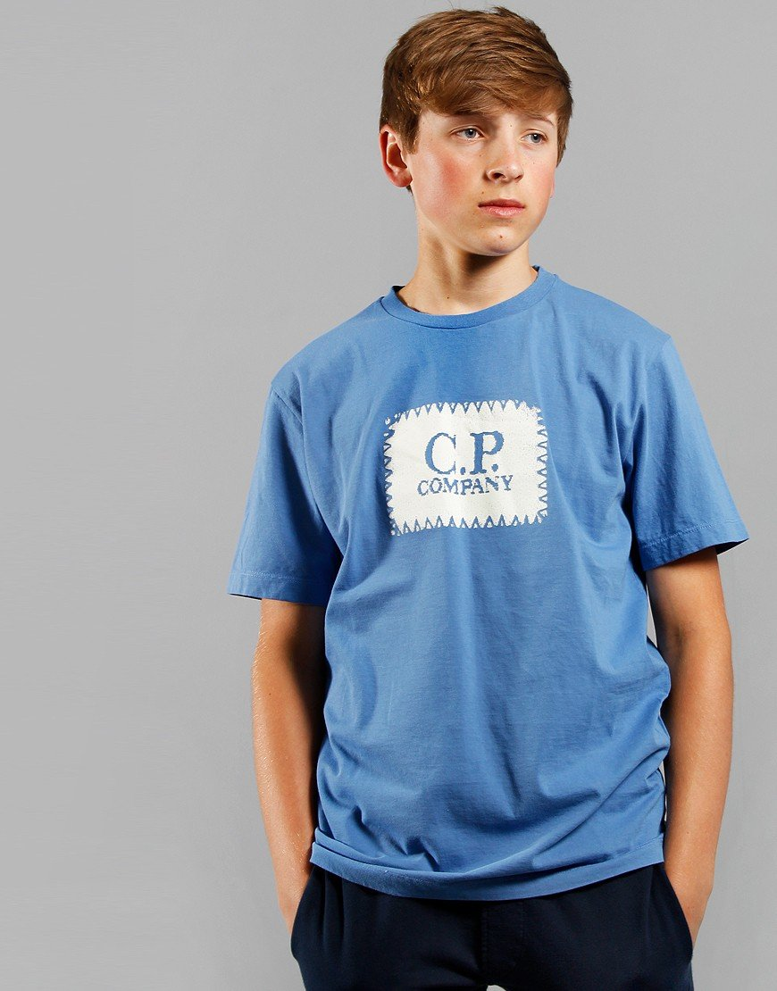C.P. Company Kids Logo Patch T-Shirt Riviera