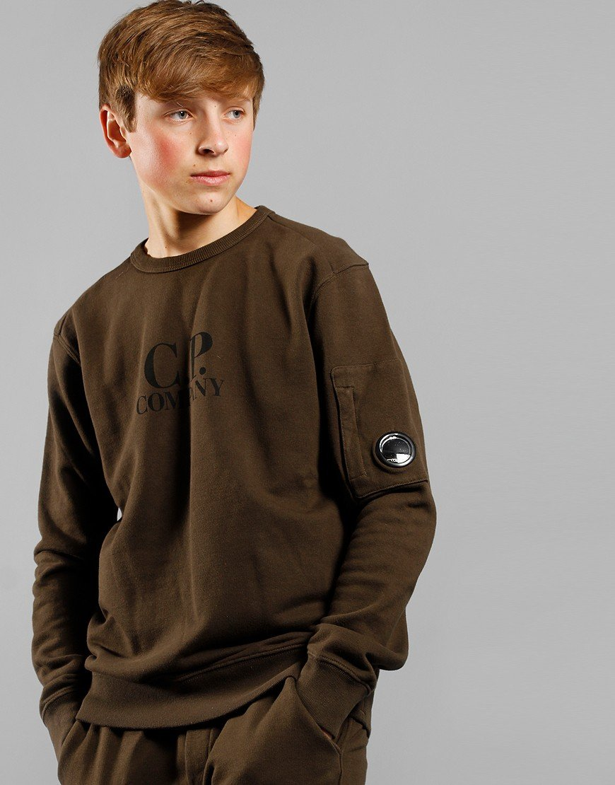 C.P. Company Kids Logo Arm Lens Sweat Forest Night