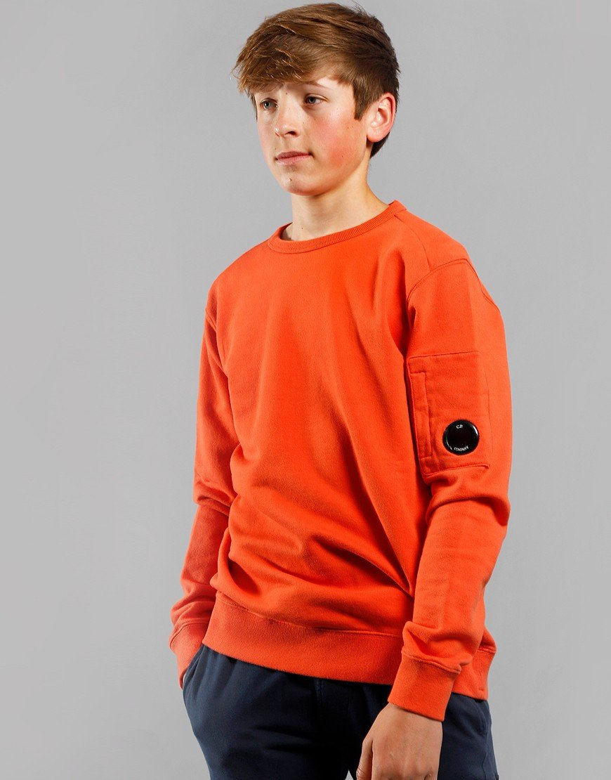 C.P. Company Kids Arm Lens Sweat Spicy Orange