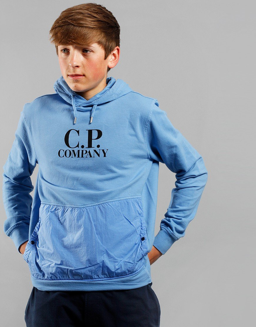C.P. Company Kids Overhead Logo Hooded Sweat Riviera