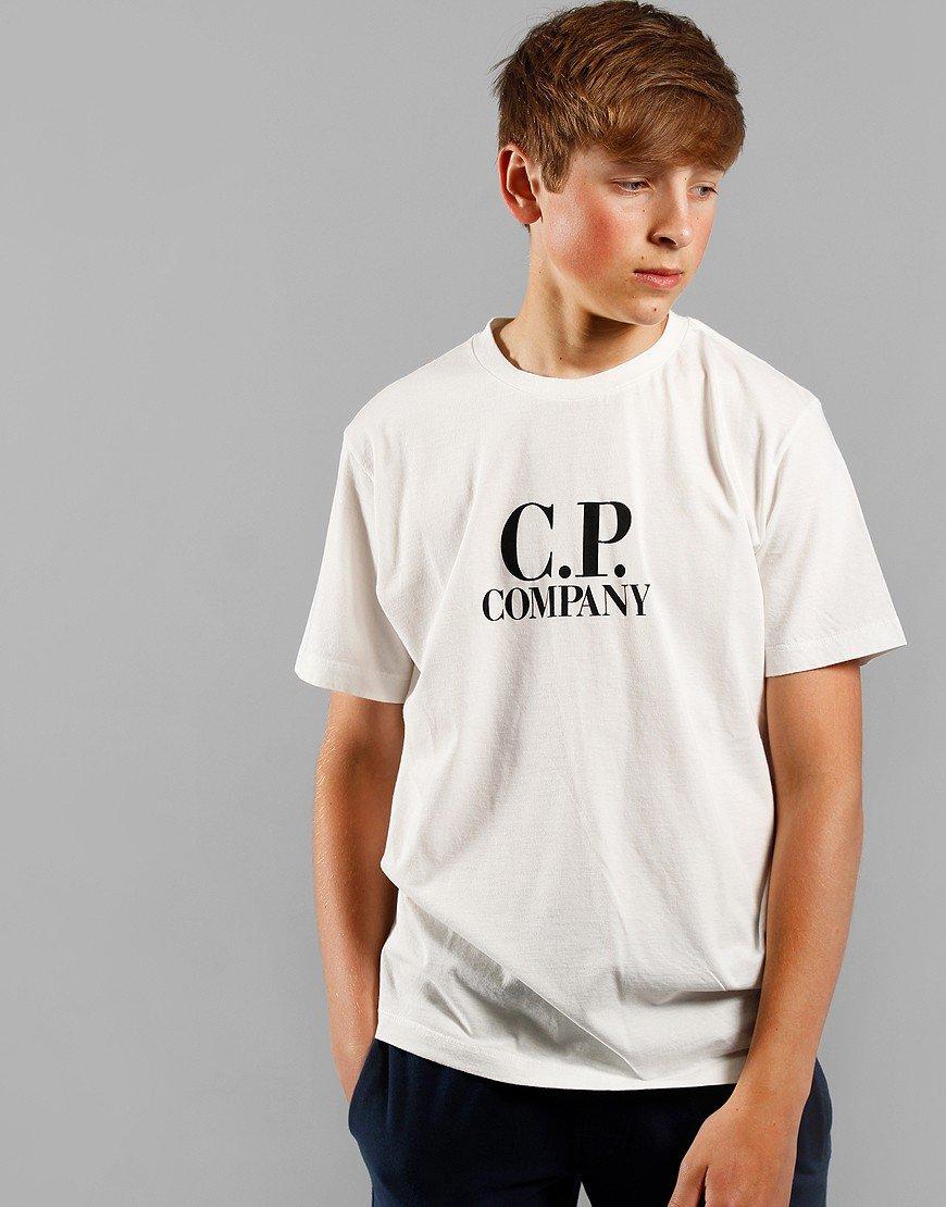 C.P. Company Kids Goggle Hood Print T-Shirt Gauze White