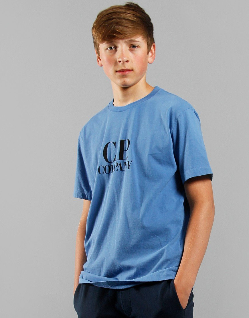 C.P. Company Kids Goggle Hood Print T-Shirt Riviera