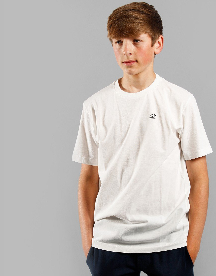 C.P. Company Kids Small Logo T-Shirt Gauze White