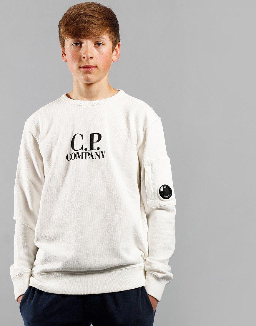 C.P. Company Kids Print Logo Lens Sweat Gauze White