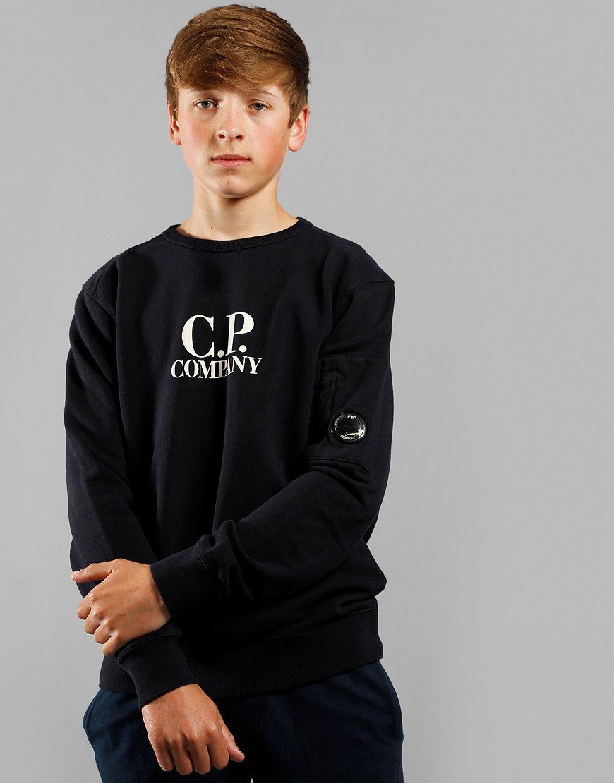 C.P. Company Kids Print Logo Lens Sweat Total Eclipse