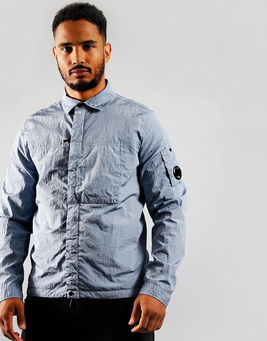 C.P. Company Nylon Zip Overshirt Blue Fog