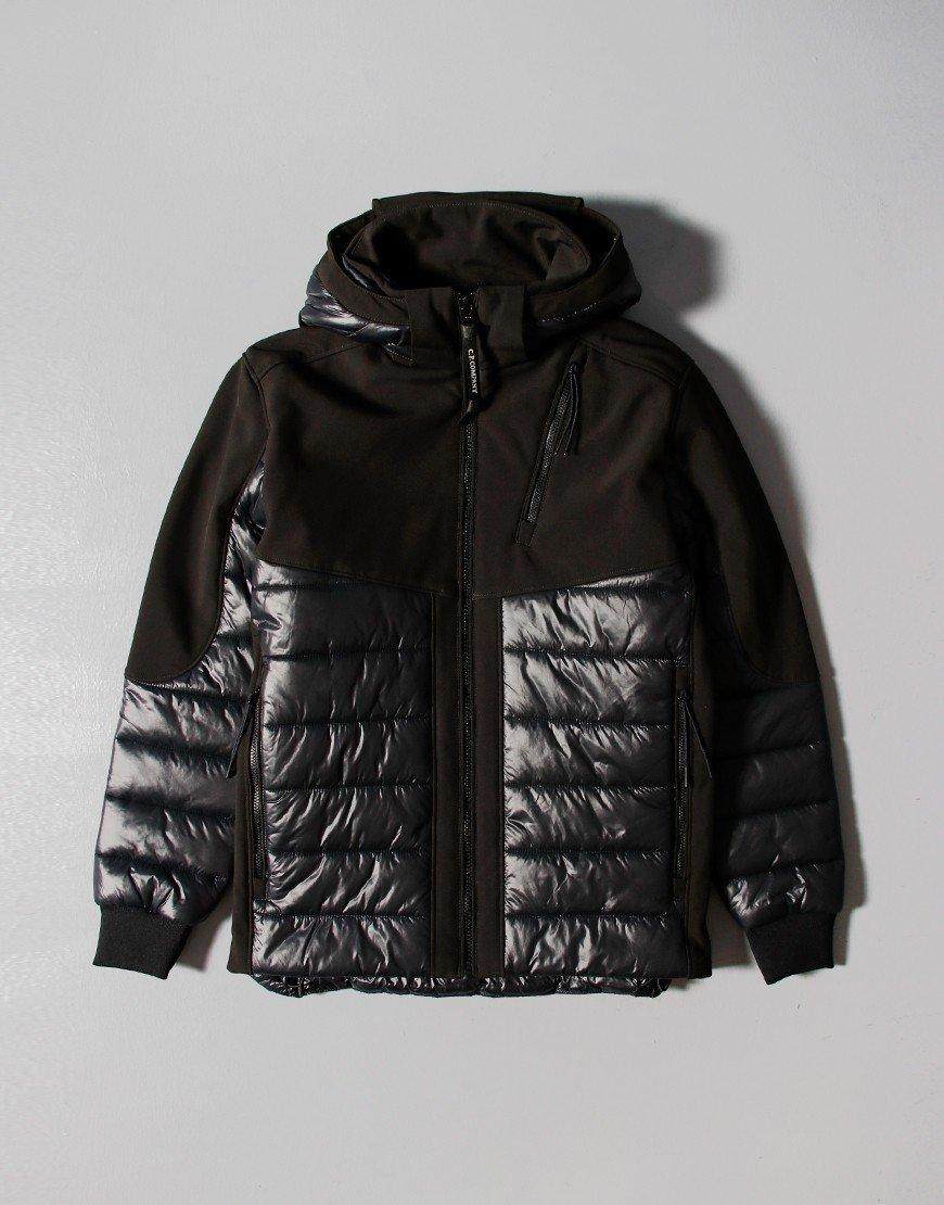 C.P. Company Kids C.P. Shell Mixed Padded Goggle Jacket Black