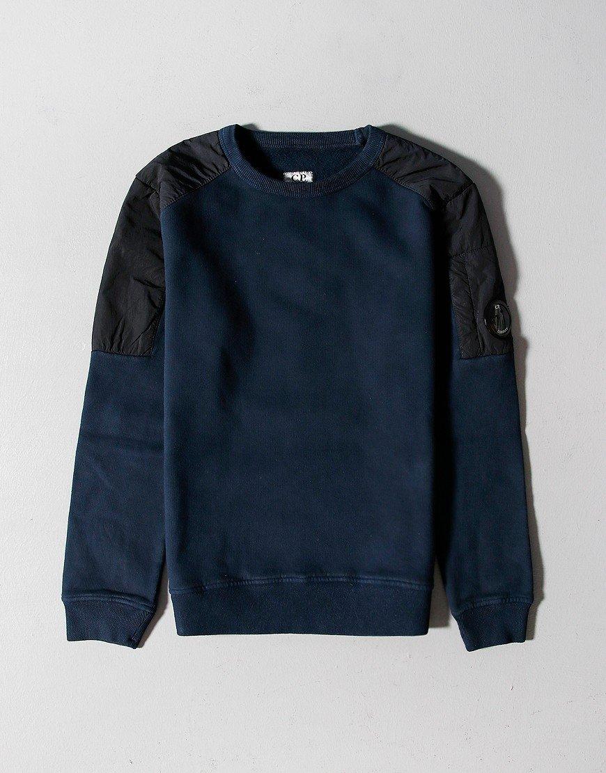 C.P. Company Kids Garment Dyed Basic Fleece Mixed Lens Sweat Total Eclipse