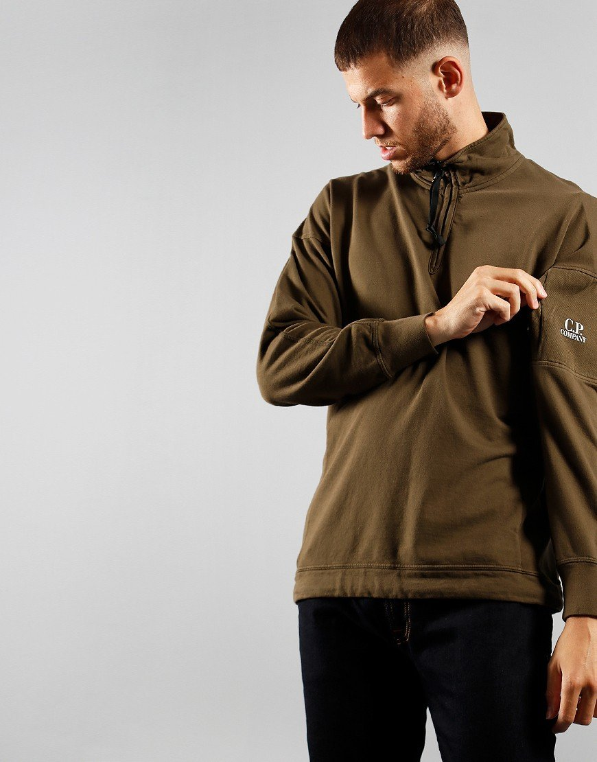 C.P. Company Half Zip Sweat Ivy Green
