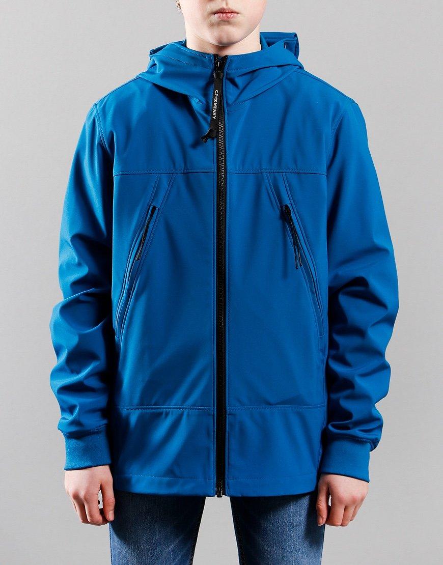 C.P. Company Kids Shell Goggle Hooded Jacket Lyons Blue