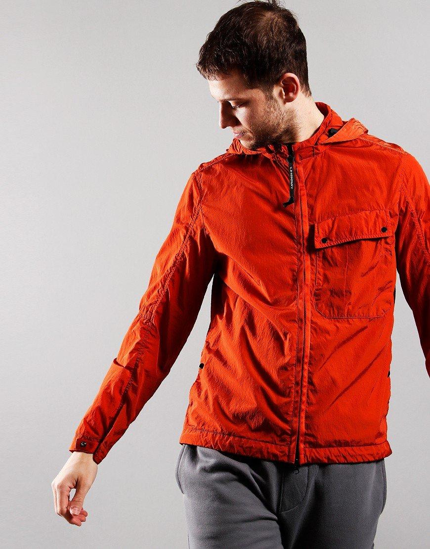 C.P. Company Chrome-R Mixed Garment Dyed Goggle Overshirt Burnt Ochre