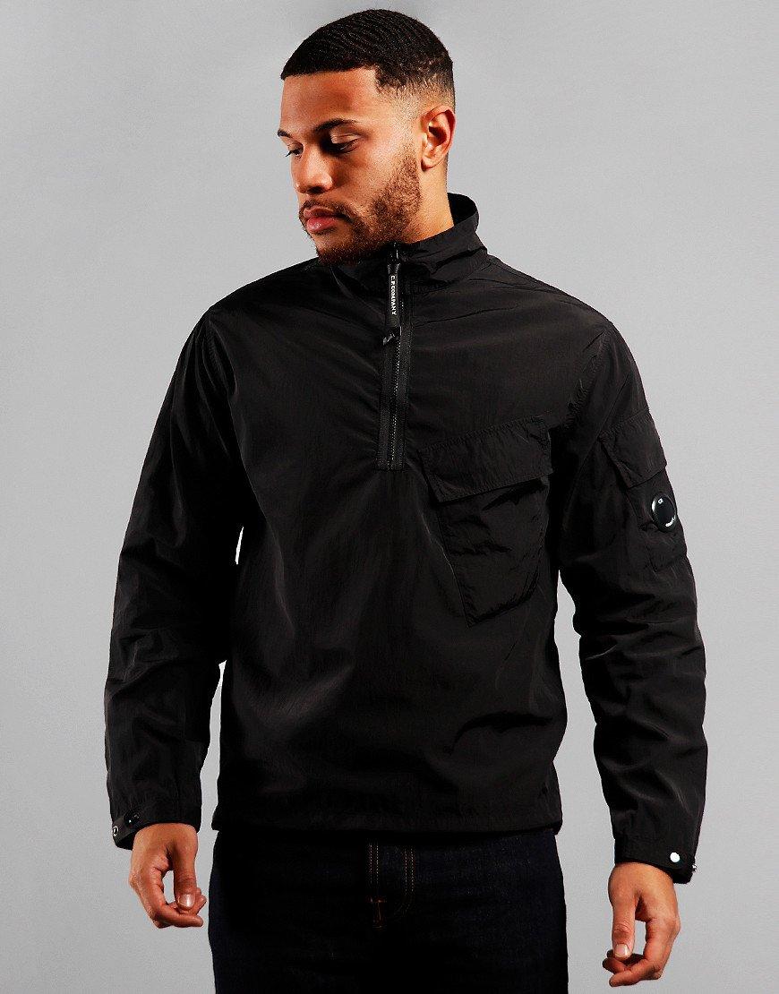 C.P. Company Chrome Quarter Zip Overshirt Black
