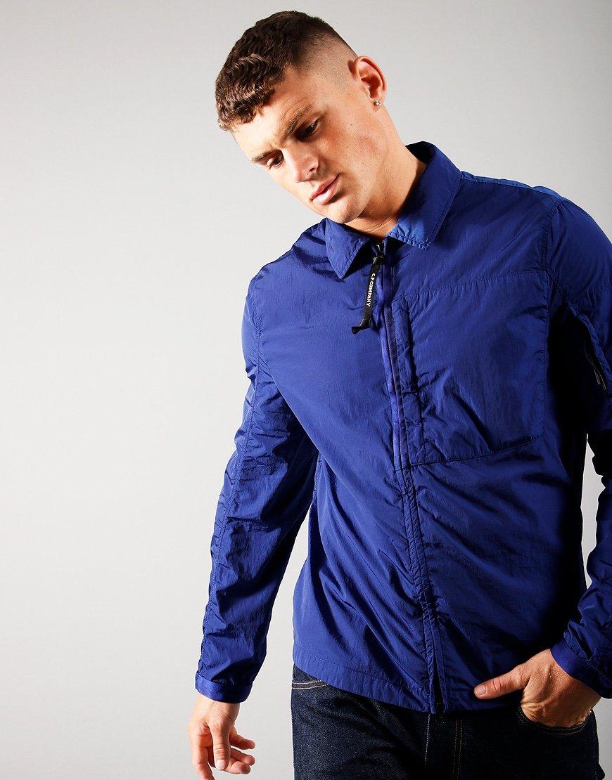 C.P. Company Nylon Zip Overshirt Blueprint
