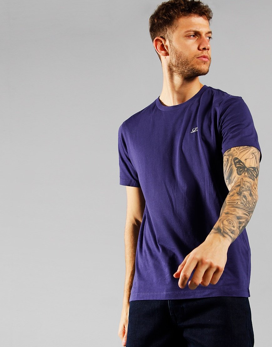 C.P. Company 30/1 Jersey Chest Logo T-shirt Blueprint