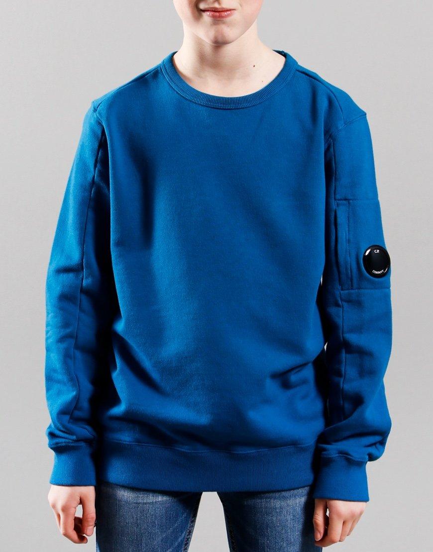 C.P. Company Kids Basic Fleece Lens Sweat Lyons Blue