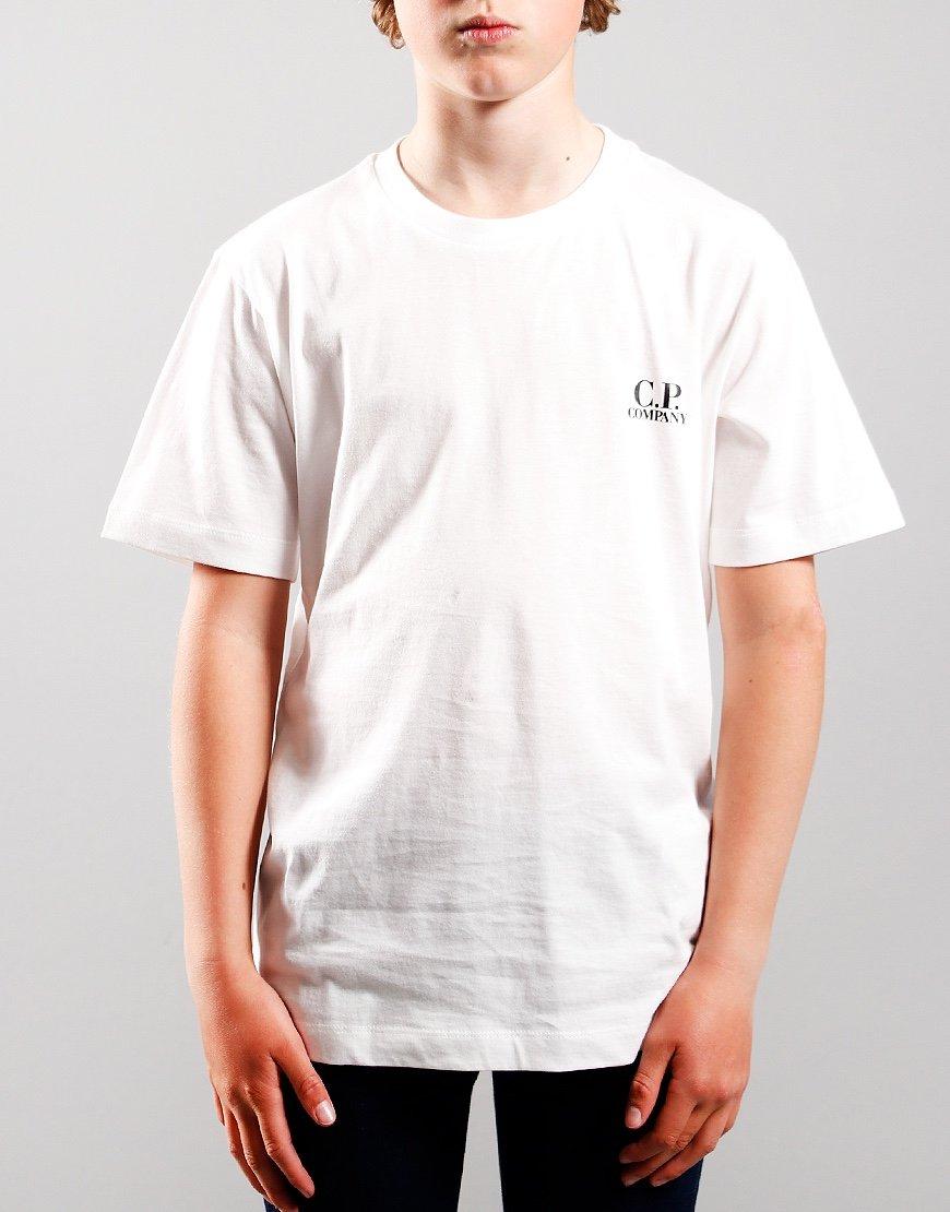 C.P. Company Kids Back Print T-Shirt Gauze White