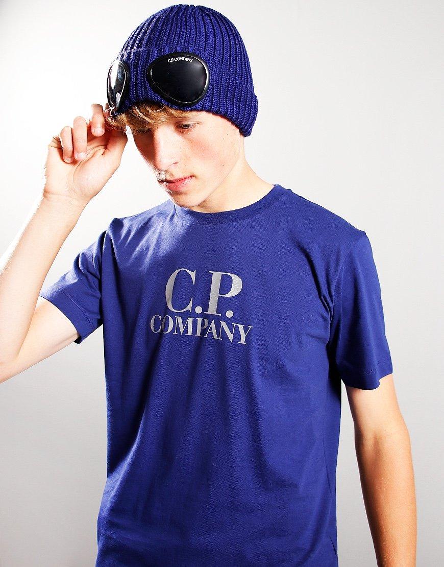 C.P. Company Kids Knit Beanie Blueprint