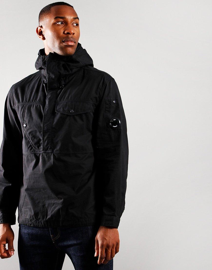 C.P. Company Gabardine Quarter Zip Jacket Black